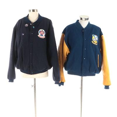 Golden Bear San Francisco Blue Angels and Thunder Birds Military Varsity Jackets