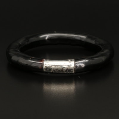 900 Silver andCoral Bangle
