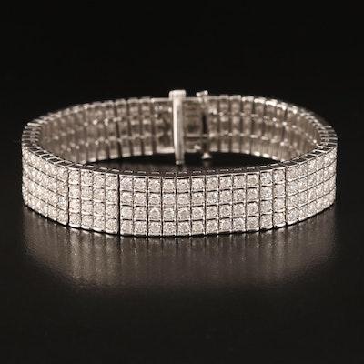 14K 9.75 CTW Diamond Tennis Bracelet