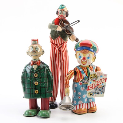 J. Chein & Co. and Other Clown Tin Toys