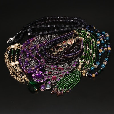 Beaded Necklaces Including Carolee, Glass and Faux Pearl