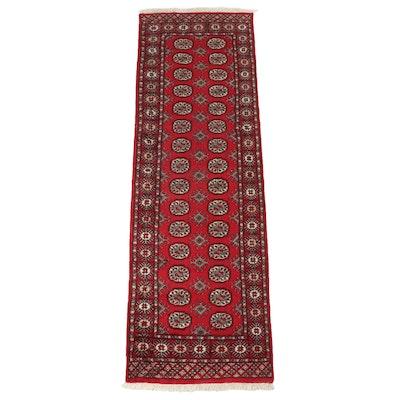 2'7 x 8'1 Hand-Knotted Pakistani Bokhara Carpet Runner