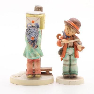 """Goebel """"Letters to Santa"""" and """"Little Fiddler"""" Porcelain Hummel Figurines"""