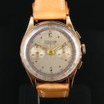 18K Charles Nicolet Tramelan Chronograph 37 mm Wristwatch