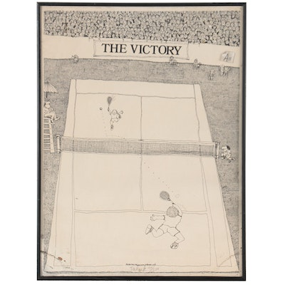 """Paul Palnik Lithograph """"The Victory,"""" 1980"""