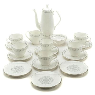 "Royal Worcester ""Bridal Lace"" Bone China Coffee Set, 1961–1971"