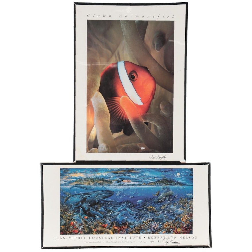Offset Lithographs of Clownfish and Marine Life, Late 20th Century