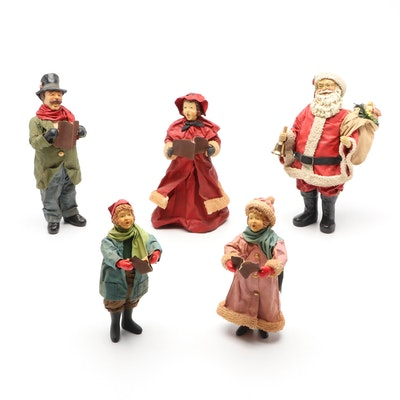 """Clothtique by Possible Dreams """"Santa Claus"""" and Other Christmas Figurines"""
