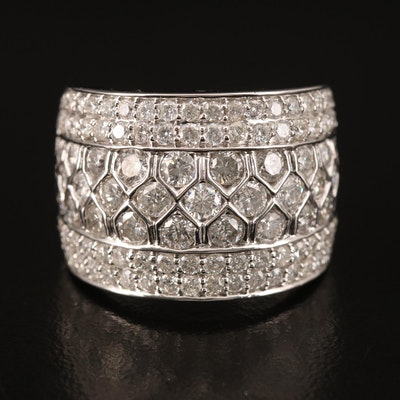 14K 2.81 CTW Diamond Wide Band