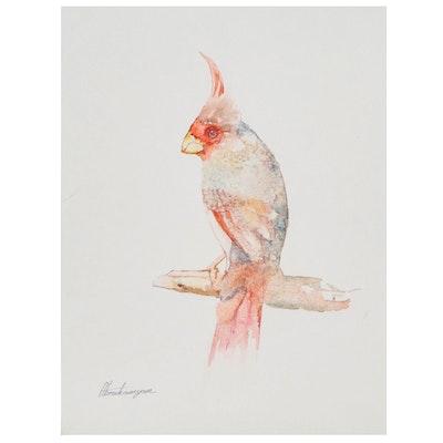 Artyom Abrahamyan Watercolor Painting of a Cardinal