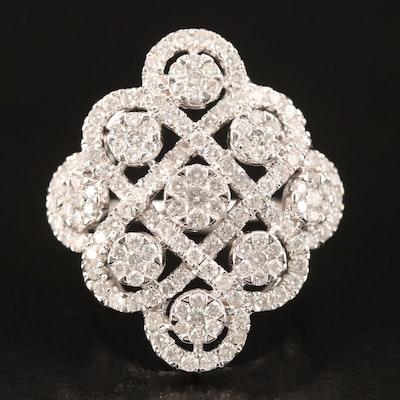 14K 2.41 CTW Diamond Openwork Ring
