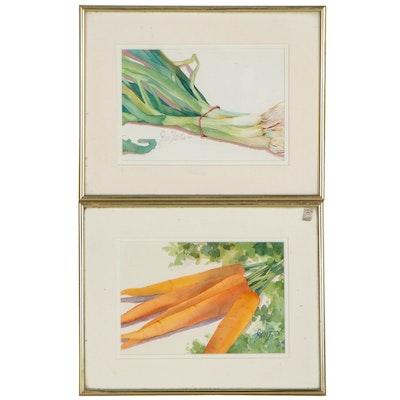 Jan Ford Watercolor Paintings of Vegetables, 1994