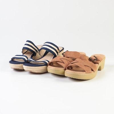 Lands' End Clara Clog Slide and Strada MW Slide Sandals