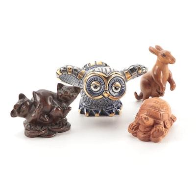 "Rinconada ""De Rosa"" Owl with Carved Wood Netsuke"