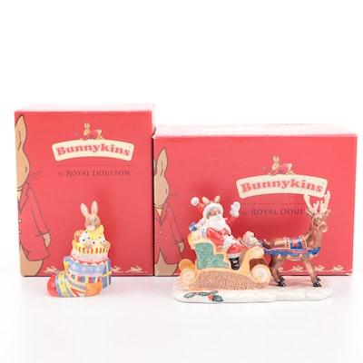 Royal Doulton Bunnykins Ceramic Christmas Figurines