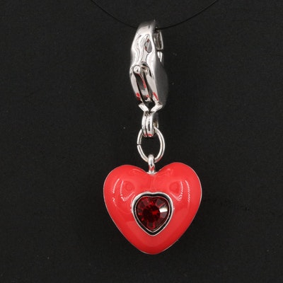 Swarovski Crystal Heart Charm