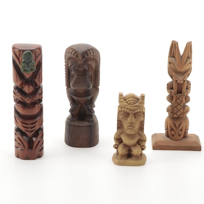 Ray Williams and Other Carved Wood Totem Sculptures