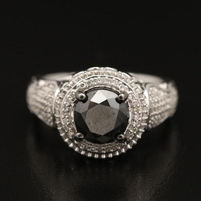 Sterling Silver 2.45 CTW Diamond Ring