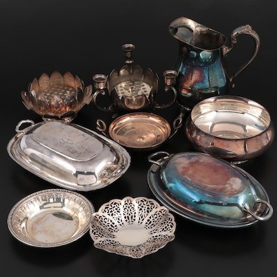 American Silver Plate Serveware and Table Accessories