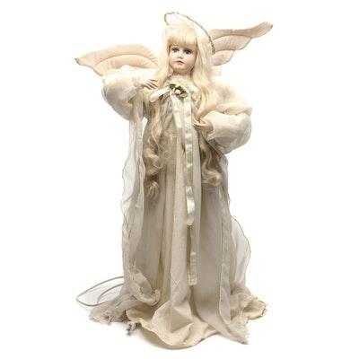 Large Electric Christmas Angel Figurine