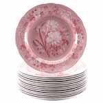 """Spode Archive Collection """"Botanical"""" Georgian Series Dinner Plates"""