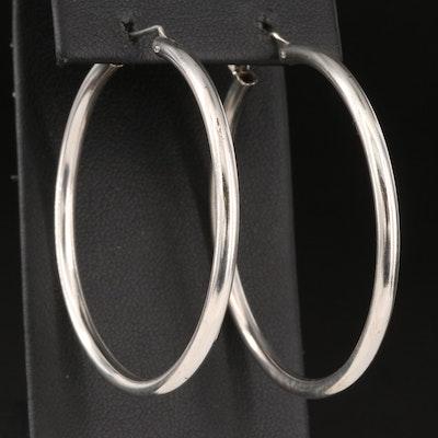 Sterling Tubular Hoop Earrings