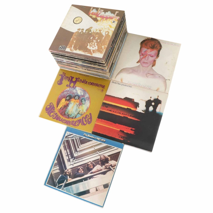 Led Zeppelin, David Bowie, Jimi Hendrix, Steely Dan, The Beatles and Other Vinyl