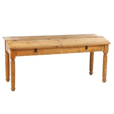 American Primitive Pine Clerk's Desk, 19th Century