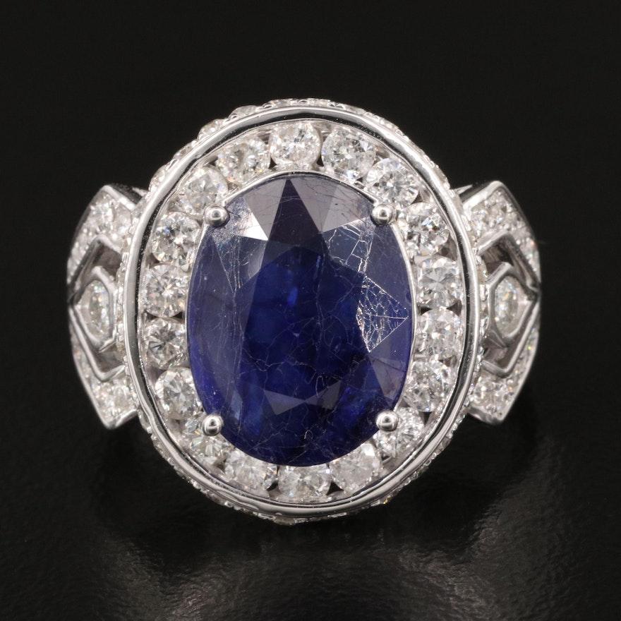 14K Corundum and 2.03 CTW Diamond Ring