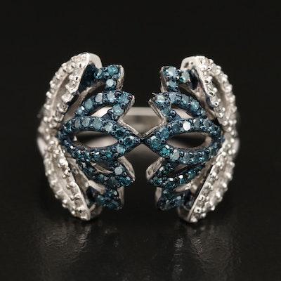 Eva LaRue Sterling Silver Diamond Ring