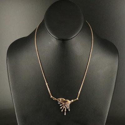 10K Diamond Spray Necklace