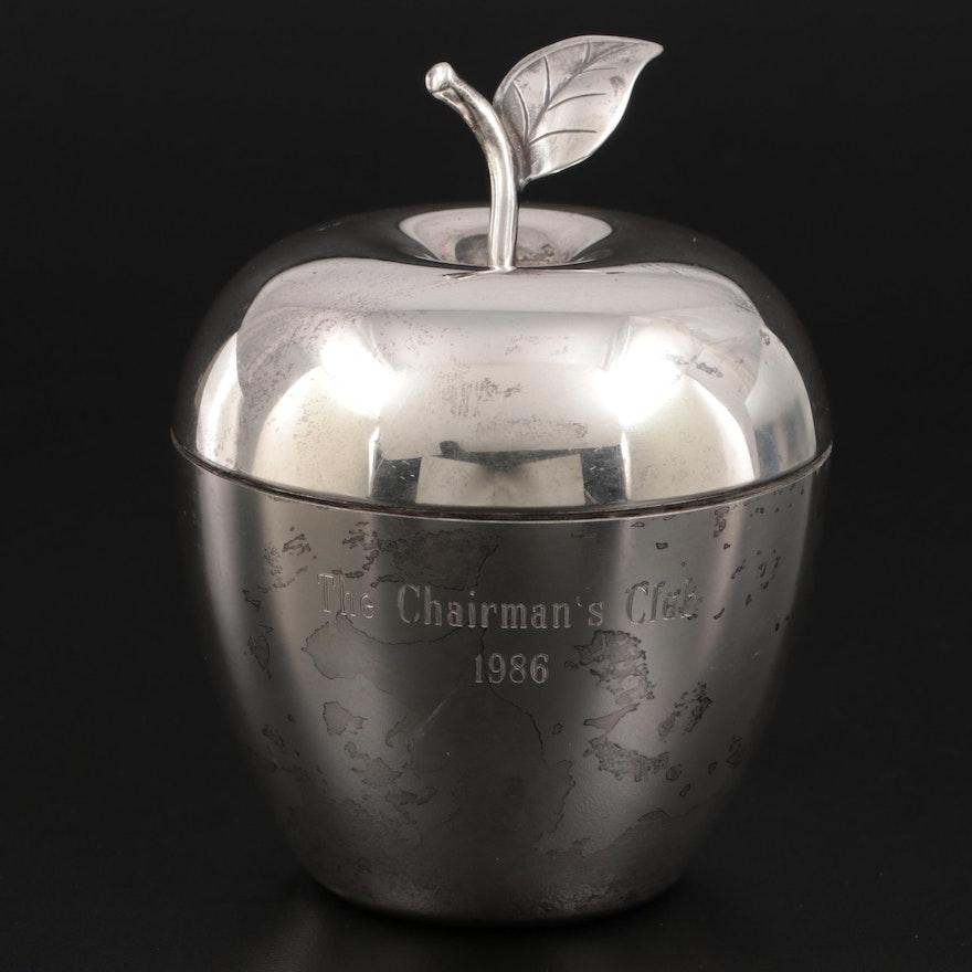 Tiffany & Co. Sterling Silver Commemorative Apple Trinket Box,  1986