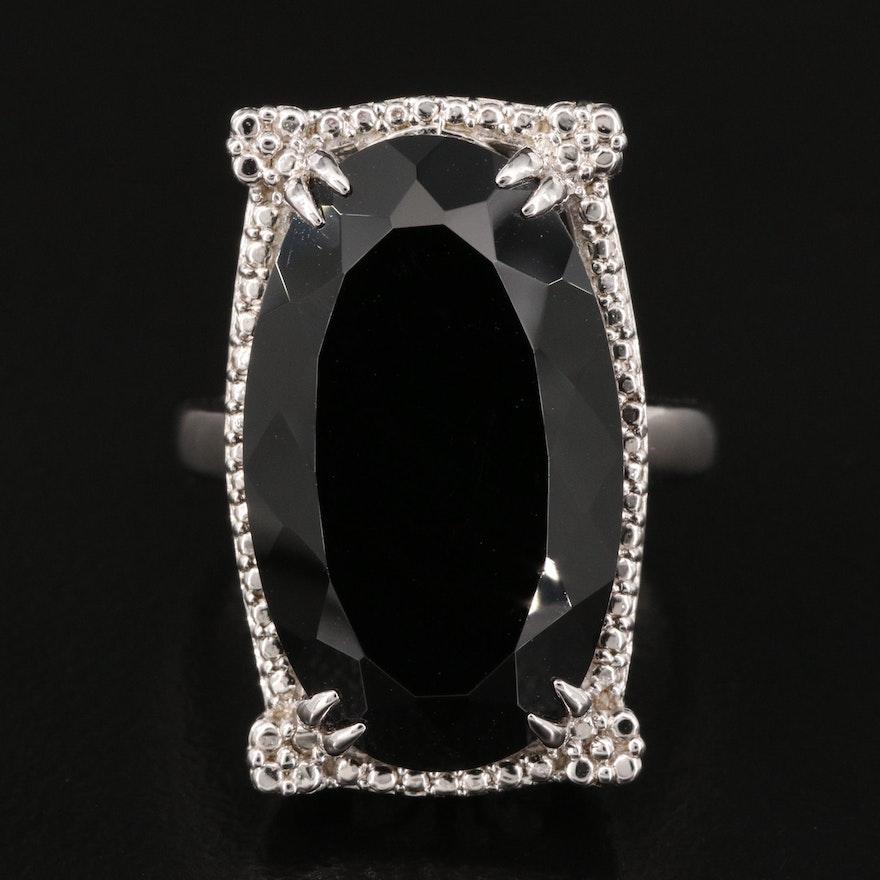 Sterling Black Sapphire Ring