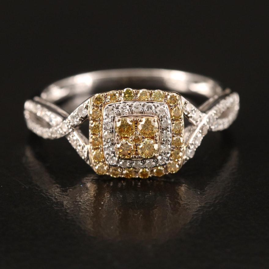 EFFY 14K Yellow Diamond and Diamond Ring
