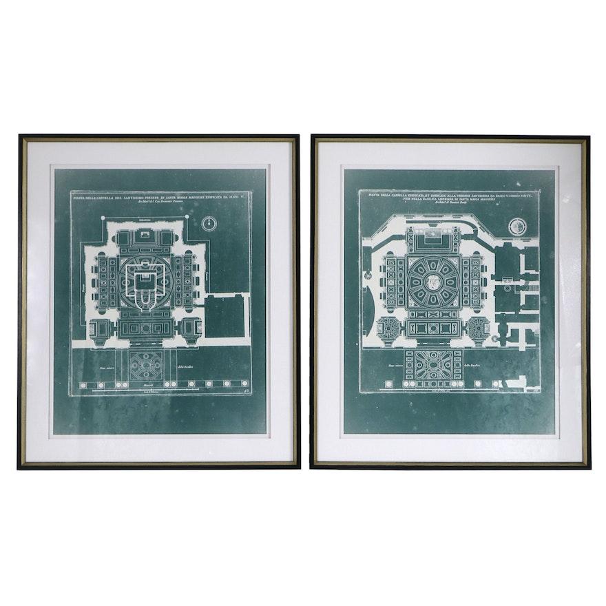 "Giclées ""Antique Architecture I"" and ""Antique Architecture II"""