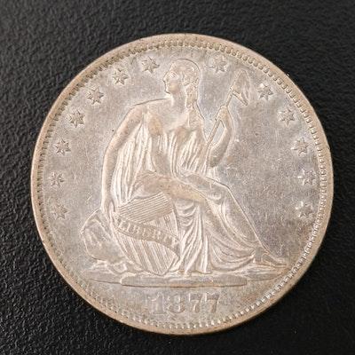 1877-S Liberty Seated Silver Half Dollar