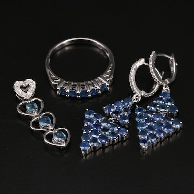 Sterling Jewelry Including Sapphire and Zircon