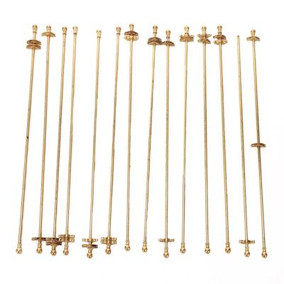 14 Brass Carpet Stair Rods with Ball Finials