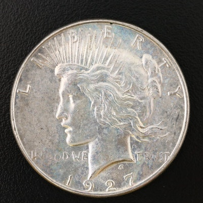 Better Date Low Mintage 1927-S Peace Silver Dollar