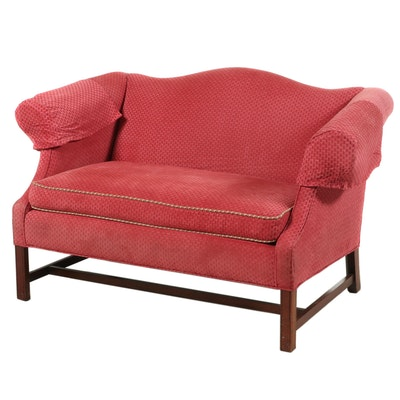 Chippendale Style Upholstered Loveseat, Late 20th Century