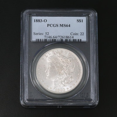 PCGS Graded MS64 1883-O Morgan Silver Dollar