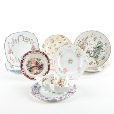 """Royal Albert """"Dainty Dinah"""" China Plates with Other Assorted Ceramic Dinnerware"""