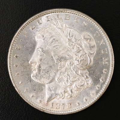 1878-S Morgan Silver Dollar, 7 Feather Variety