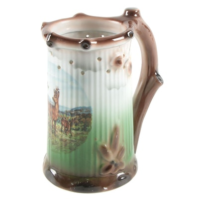 Gerold Porzellan Lithoplane Ceramic Beer Stein, Mid to Late 20th Century