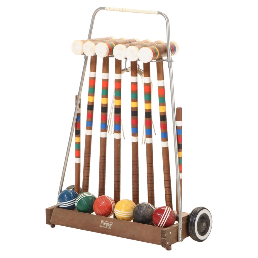 Forster Six Player Croquet Set with Caddy