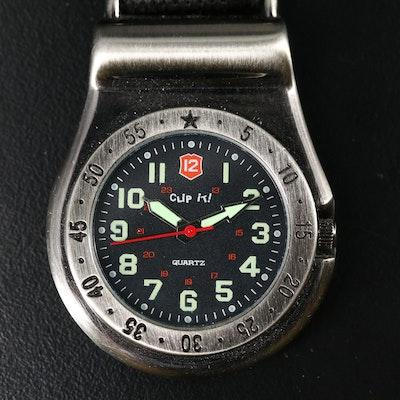 Clip It! Quartz Belt Fob Watch