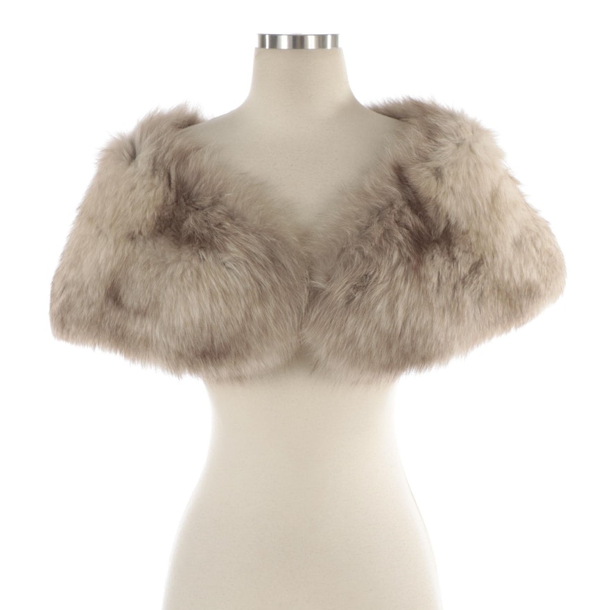 Fox Fur Stole with Lining Pockets