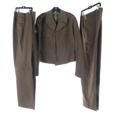 United States Army Service Uniform with Insignia, Mid-20th Century