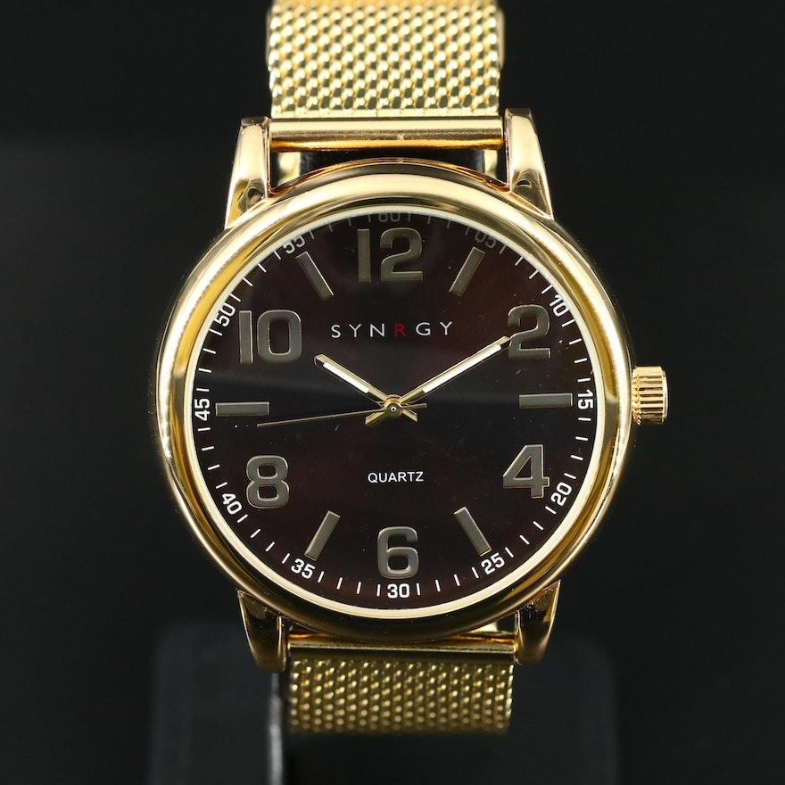 Syngry Gold Tone Quartz Wristwatch