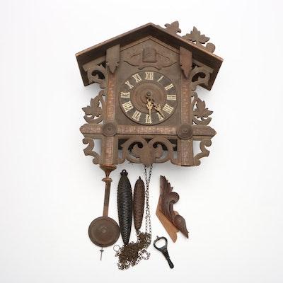 Gebrunder Kuner Black Forest Style Cuckoo Clock, Early 20th Century